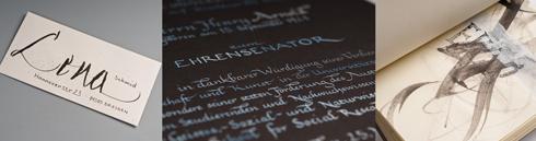 Kalligrafische Handschrift gestalten